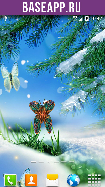 Обои с живыми бабочками